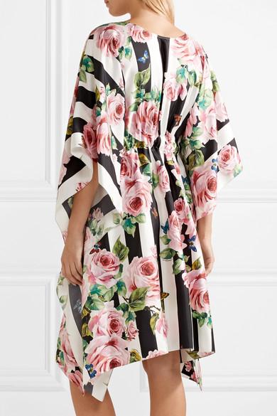 Dolce & Gabbana Bedruckter Kaftan aus Seiden-Twill