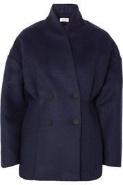 Rione double-breasted wool-blend felt coat