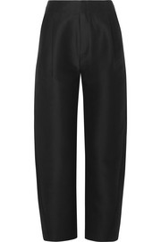 Lombardy cotton and silk-blend tapered pants