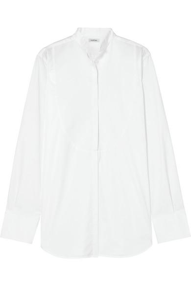 Totême Palencia Hemd aus Baumwollpopeline mit Piqué-Einsatz
