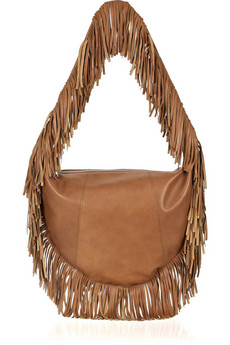 Michael Kors | Crescent fringed leather hobo bag | NET-A-PORTER.COM from net-a-porter.com