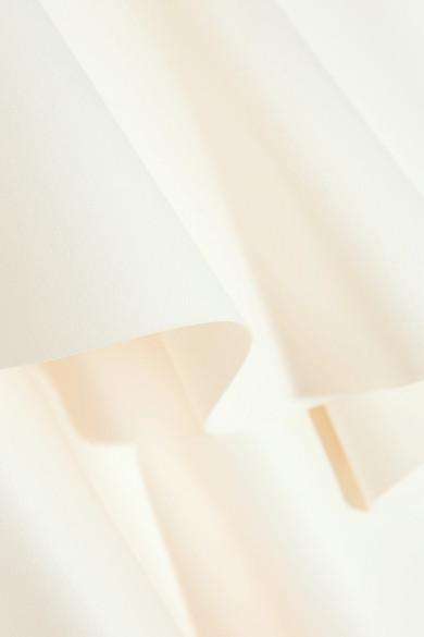 Solace London Violet asymmetrisches Oberteil aus Crêpe mit Rüschen