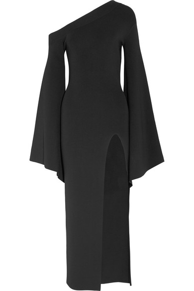 Solace London Robe aus Stretch-Strick mit asymmetrischer Schulterpartie