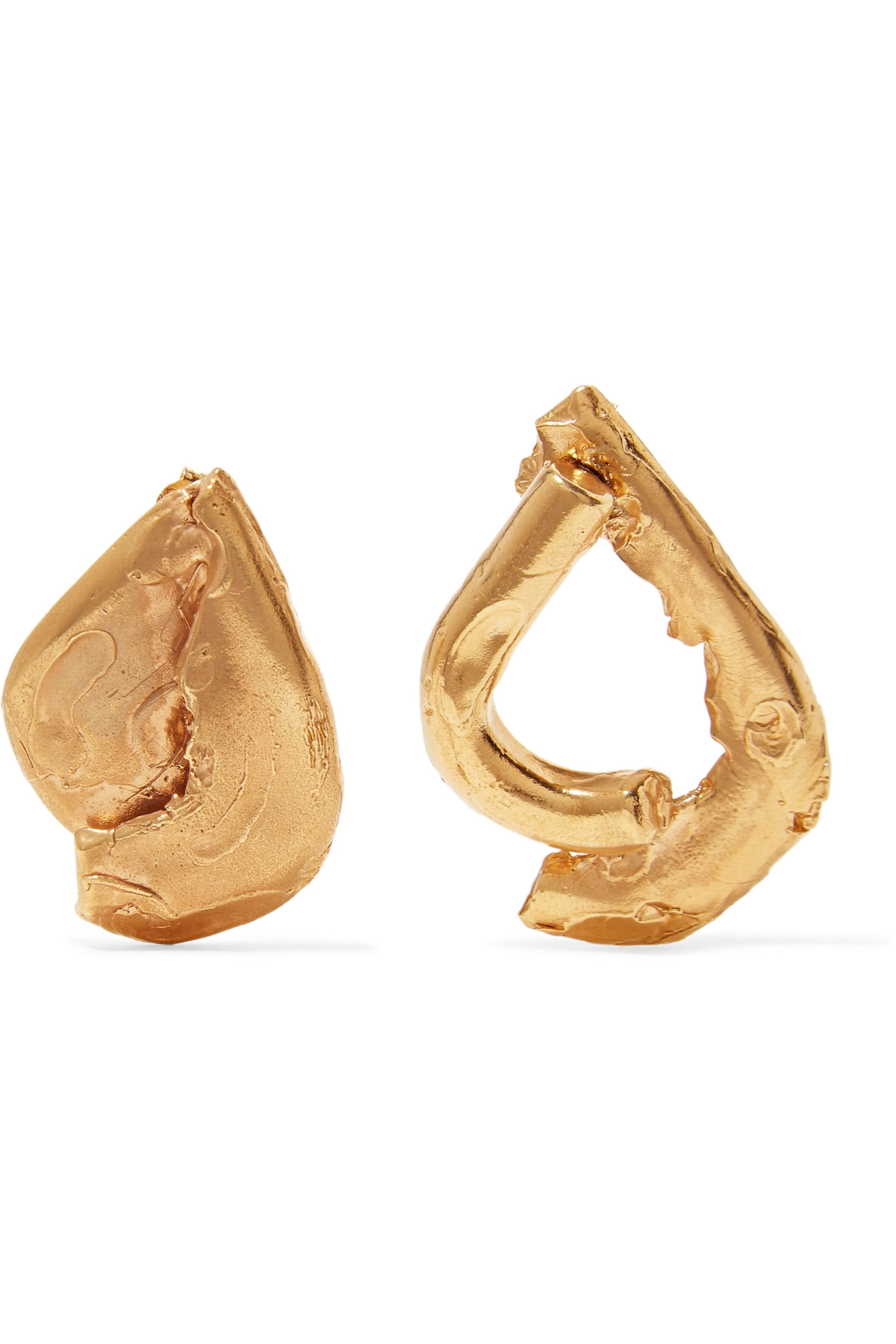 Alighieri Warrior gold-plated earrings