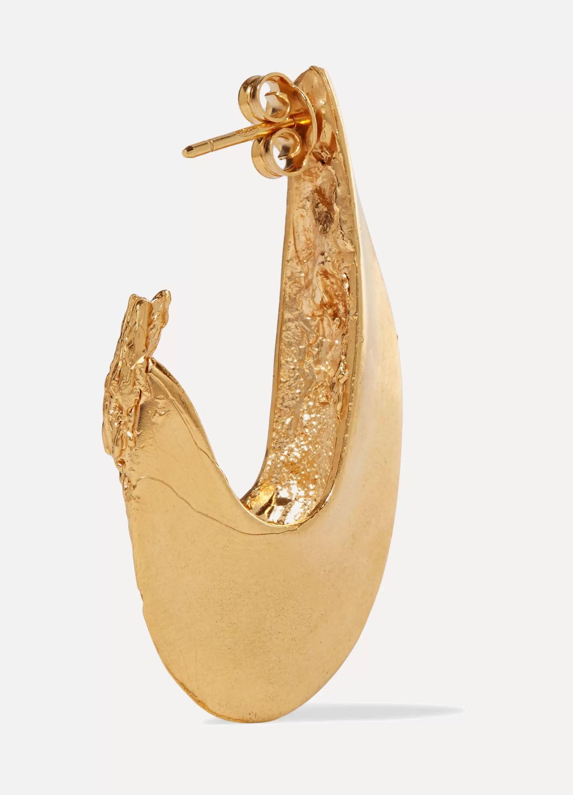 Alighieri Il Leone 2.0 gold-plated hoop earrings