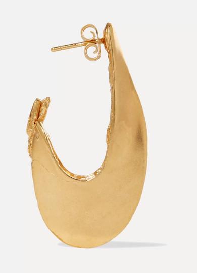 Il Leone 2.0 Gold-plated Hoop Earrings - one size ALIGHIERI e9Nx0Fwv6v