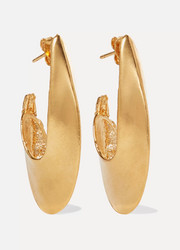 Il Leone 2.0 gold-plated hoop earrings
