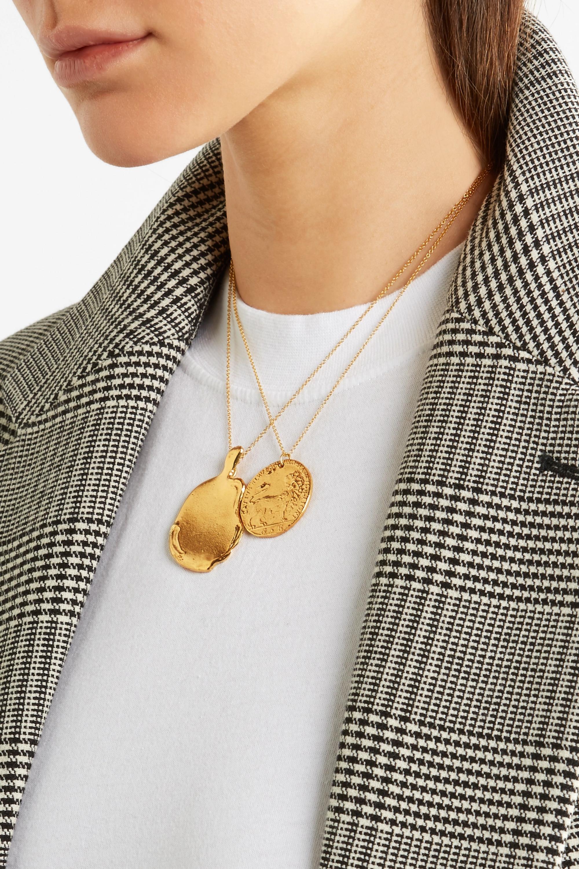Alighieri Il Leone Medallion vergoldete Kette