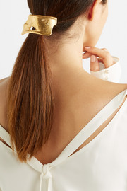Overthinker gold-plated hair tie