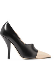 Fendi Two-tone leather pumps