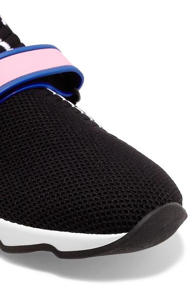 c4e0e55c52 Logo-print stretch-knit and mesh slip-on sneakers
