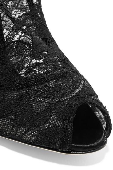 Dolce & Gabbana Sock Boots aus Stretch-Spitze und Tüll
