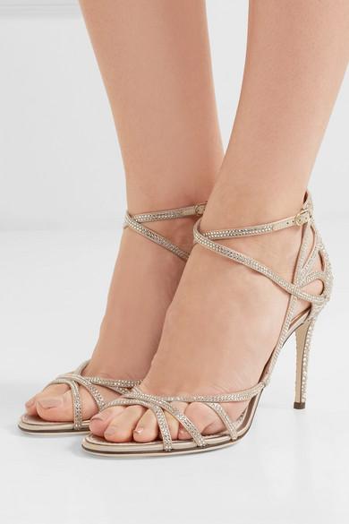 Dolce & Gabbana Sandalen | Kristallverzierte Sandalen Gabbana aus Satin 860661