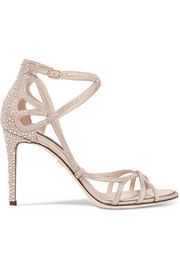 Dolce & Gabbana Crystal-embellished satin sandals