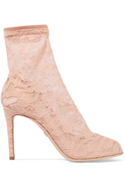 Dolce & Gabbana Stretch-lace and tulle sock boots