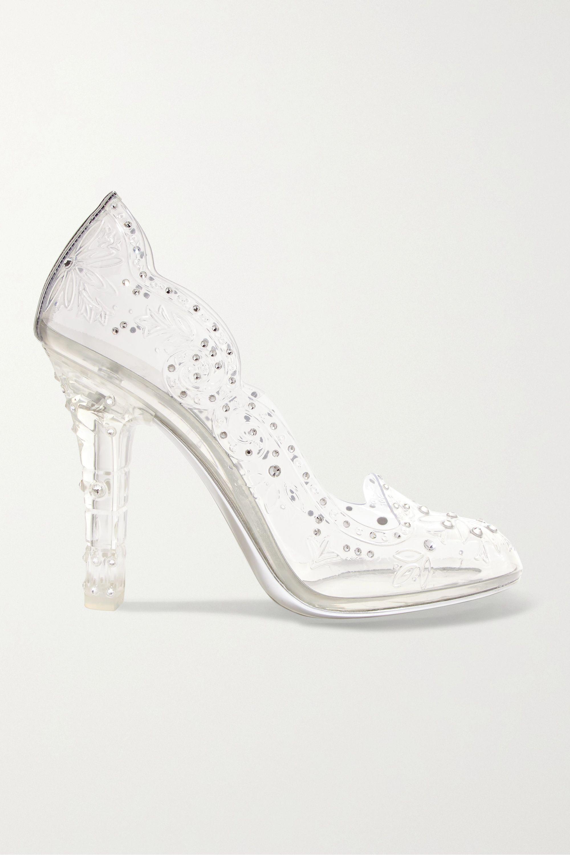 Dolce & Gabbana Cinderella crystal-embellished PVC pumps