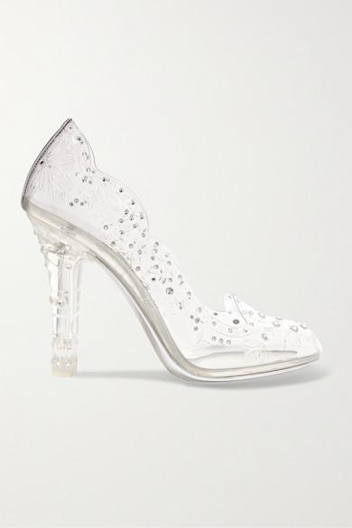 3f9ba4ad003 Cinderella crystal-embellished PVC pumps