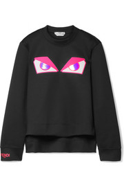 Fendi Wonders appliquéd ponte sweatshirt