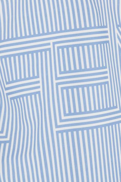 Fendi Bedruckter Badeanzug mit asymmetrischer Schulterpartie