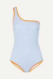 Fendi One-shoulder printed swimsuit