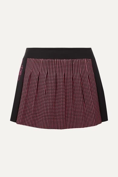 Fendi Karlito Tennisrock aus Stretch-Material mit Polka-Dots