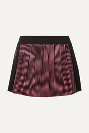 Fendi Karlito polka-dot stretch tennis skirt