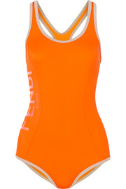 Fendi Roma cutout swimsuit