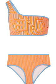 Fendi One-shoulder printed bikini