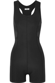 Fendi Roma printed mesh-paneled stretch bodysuit