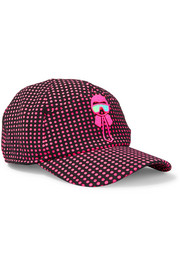 Fendi Karlito appliquéd polka-dot tech-jersey baseball cap