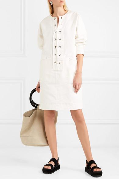 Tomas Maier Kleid aus Twill aus einer Baumwollmischung mit Schnürung