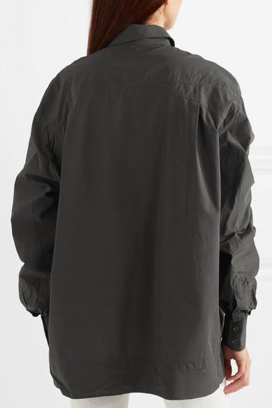 Tomas Maier Gerafftes Hemd aus Baumwollpopeline