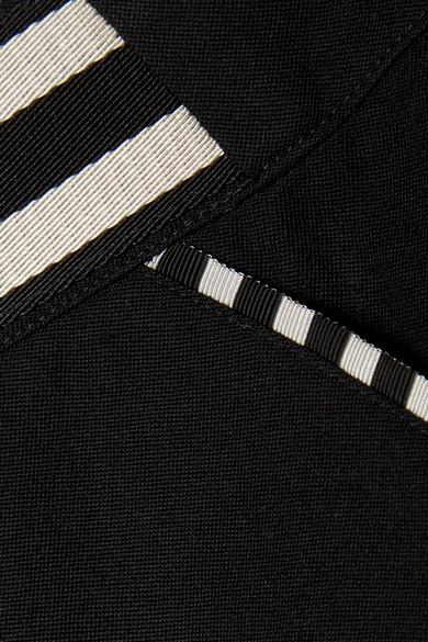 Tomas Maier Minirock aus Grain de Poudre aus Wolle mit Streifen