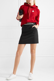 Striped grain de poudre wool mini skirt