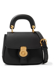 Burberry Mini textured-leather shoulder bag