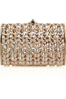 Judith Leiber | Crystal and bead-embellished oval clutch | NET-A-PORTER.COM from net-a-porter.com