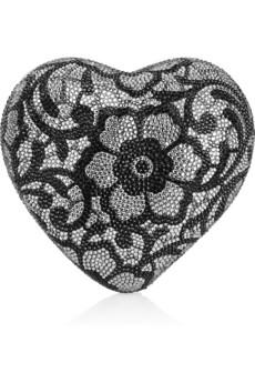Judith Leiber|Heart 'n' Soul crystal-embellished clutch|NET-A-PORTER.COM from net-a-porter.com