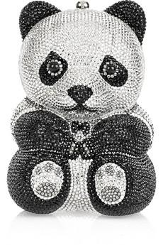 Judith Leiber|Panda crystal-embellished clutch|NET-A-PORTER.COM from net-a-porter.com