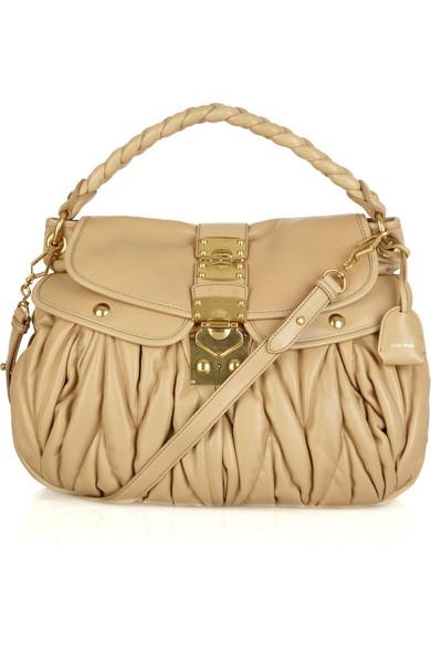d75a0f4a108d Miu Miu. Matelassé leather bag