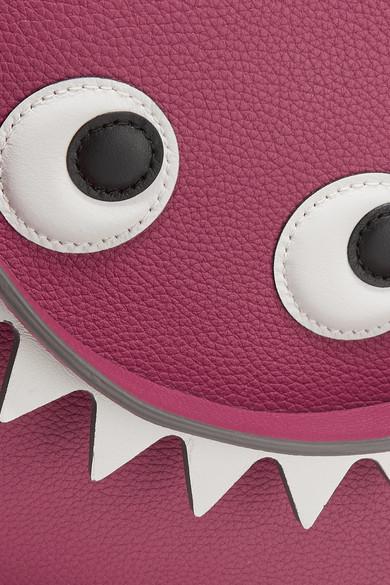 Anya Hindmarch Beutel aus strukturiertem Leder mit Augenapplikationen