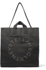 Printed cotton-canvas tote