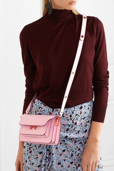 Trunk mini leather shoulder bag 85fe6c476d90f