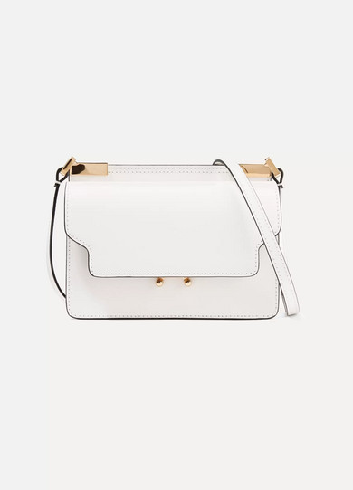 Marni - Trunk Micro Leather Shoulder Bag - White
