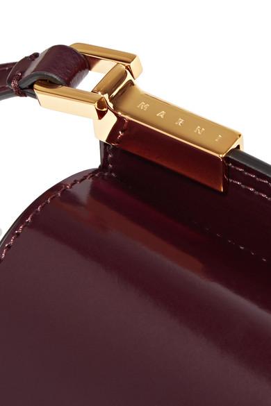 Marni Trunk micro Schultertasche aus Leder