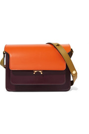 Marni Trunk medium color-block glossed-leather shoulder bag