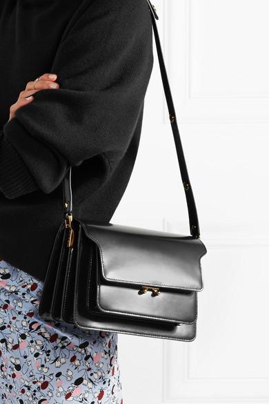 Trunk Leather Shoulder Bag - Black Marni 3qIlsWdG