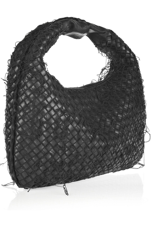 Bottega Veneta Veneta Medium canvas-stitched intrecciato leather bag