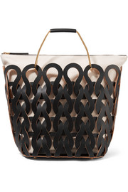 Marni Tricot woven leather and canvas tote