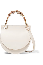 Marni Pebble leather and suede shoulder bag