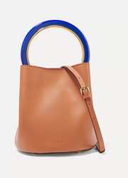 Pannier mini leather bucket bag